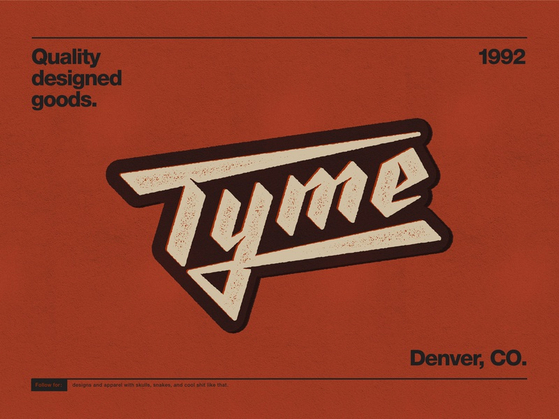 TYME modern blackletter grit logotype stamp texture vintage typography lettering graphicdesign design branding logo