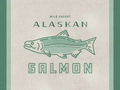 Salmon Illustration print drawing salmon nature icon vintage halftone texture vector logo graphic design design illustration