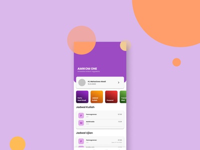 Amikom One Redesign design react native flutter ios android mobile app design