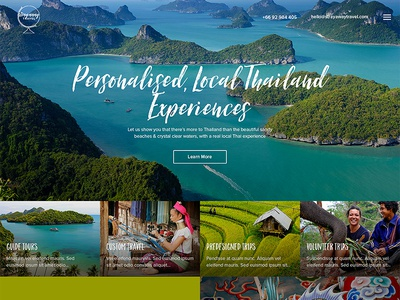 Stray Away Travel web design discovery website web design ui ux tour thailand thai trip travel