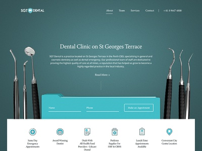 SGT Dental Clinic medical design web doctor slider icons ui ux dentist medicine dental clinic