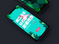 Landing page-Tropical Design
