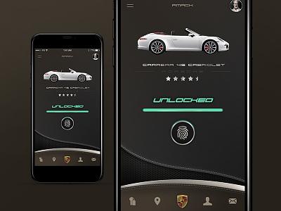 Porsche unlock concept porsche car app interaction tech ux experiment design concept ui