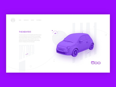 Sunday UI user interface car website 3d typography experiment interaction concept design ui