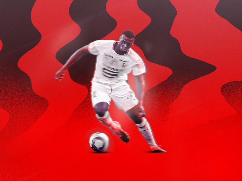 M'Baye Niang Design concept photo sport football ipad pro procreate branding photography experiment design