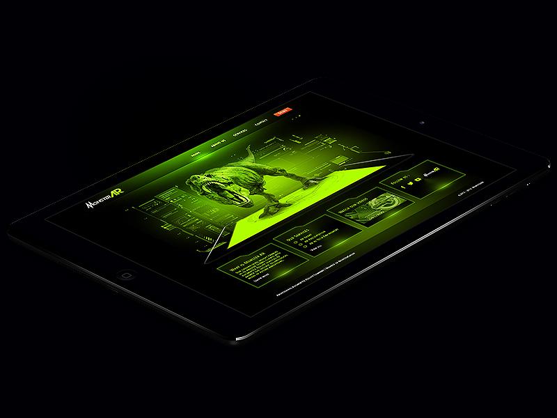 MonsterAr Project ipad black green monster apple hightech greenlight webdesign ui ux