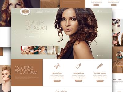 beauty salon training web design by Helloxandro - Dribbble