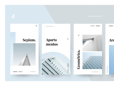 FREE PSD - Architect stories template instagram stories free downloads prospect invitation card free download psd download freebies clean app simple android ios clean instagram psd banner ads