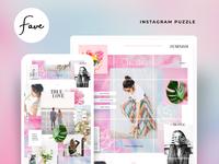 Fave - instagram puzzle