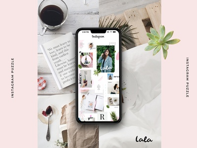FREE PSD - Lala instagram puzzle