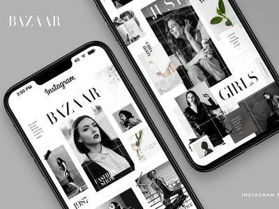 Bazaar instagram puzzle