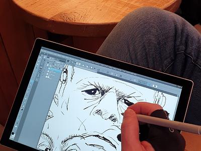 Illustration in progress illustration drawing