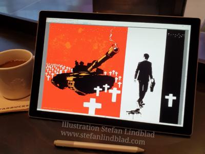 War business illustration illustration drawing digital