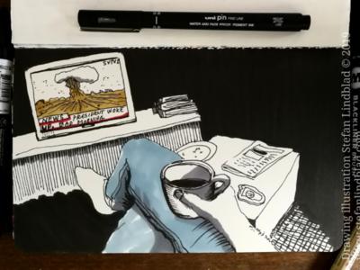 Drawing at breakfast illustrator drawings