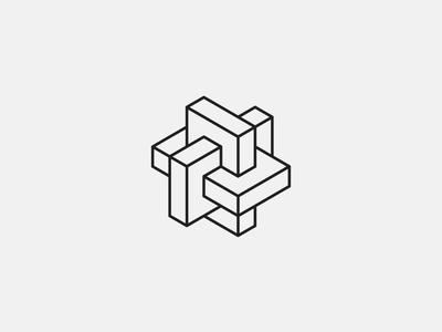 Datablock logo isometric black white branding