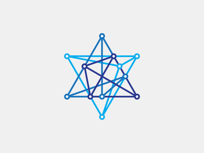 Science Day israel science day logo logotype line dots magen david blue annual branding
