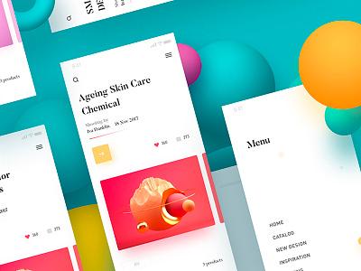 Space app radesign rdd menu color design ux ui