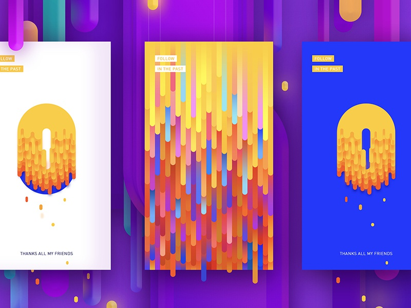 Article yellow purple design color clean ux ui