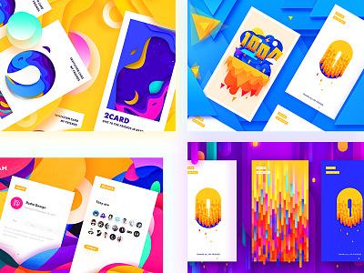 Fours app radesign rdd combination colorful design ux ui