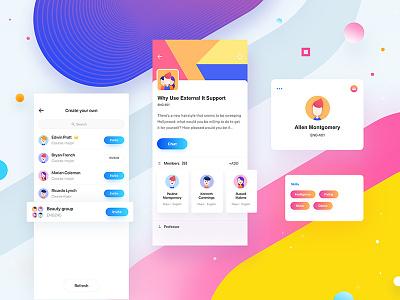 Team_two app radesign rdd group teamwork design color clean ux ui