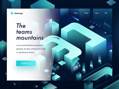 Mountains radesign rdd fans team black web design ux ui