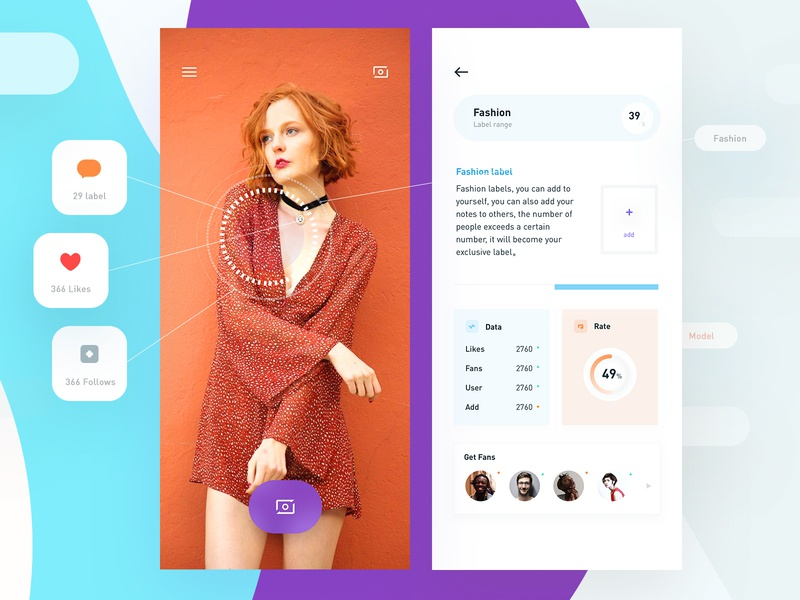 Face Three app radesign rdd face typography color clean ux ui design