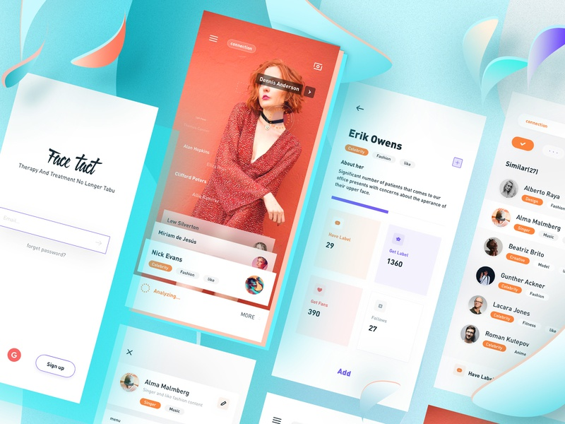 Face All app radesign rdd blue color clean ui ux design