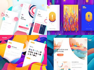 2018 Top Work rdd radesign followers purple space yellow color clean ui design