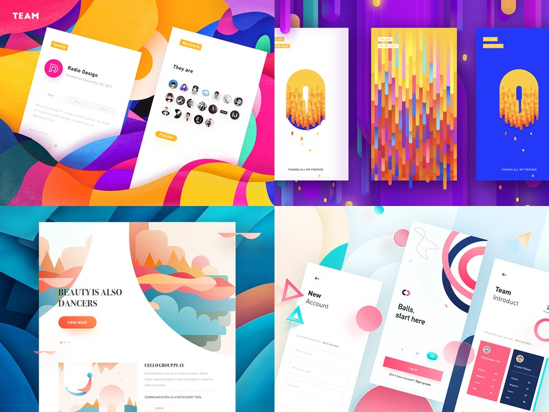 2018 Top Work app rdd radesign creative yellow color clean ui ux design