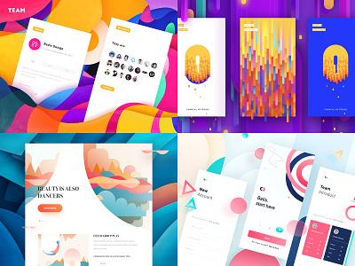 2018 Top Work app rdd radesign creative yellow color clean ui ux design