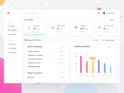 Inspection report web rdd radesign space report gene yellow color clean ux ui design