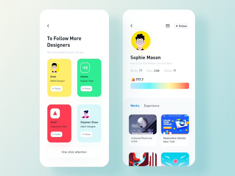 Recommend mobile app rdd radesign color ui design