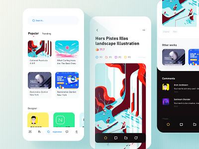 Detail mobile app radesign rdd ui comment design
