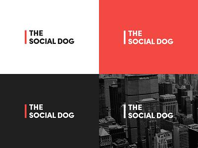 The Social Dog logo logo logotype identity brand branding social dog news media city magazine