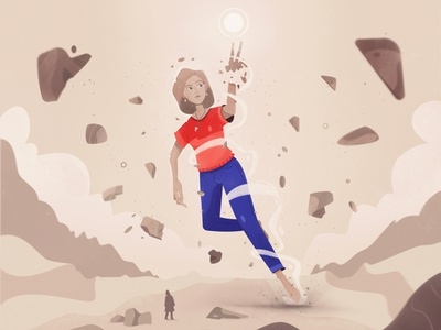Soul magic stones soul character design fireart art character cartoon illustration
