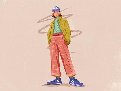 Fella digital illustration painting art photoshop man fashion character design design character cartoon illustration