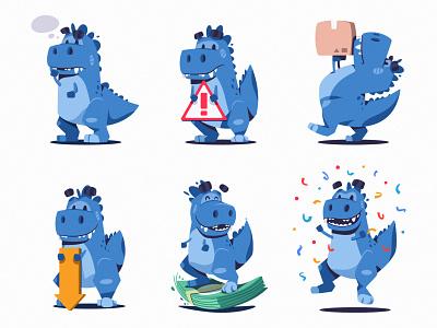 T-rex mascot mascot t-rex dinosaur character design art character illustration