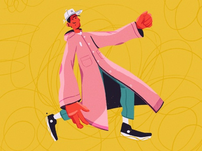 Raincoat design 2d color characterdesign texture raincoat procreate art character illustration