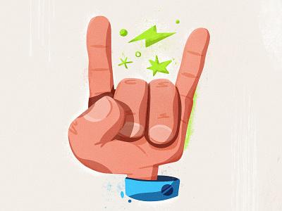 Rock'n'rolla procreate sign emoji finger hand rocknroll rock art illustration