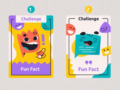 Card game design shapes abstract funny design art character card game flat vector illustration