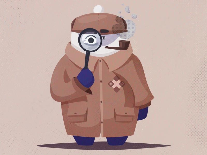 Sherlock Mascot sherlock mascot funny cartoon character illustration vector