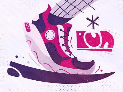 Rūn! improve foot fast fashion vector art flat score runner sneakers sport running run design cartoon illustration vector