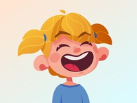 Laughing girl | Logo