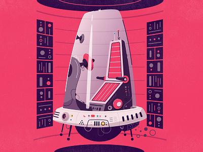 Hover car vector tech sci-fi robot retrofuturism retro illustration hover car hover futuristic futurism future flat drone design cartoon car art