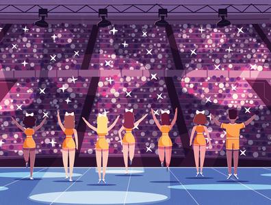 Cheerleaders On Stage | Band