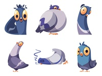 Stickers for Telegram | Pigeons part 3