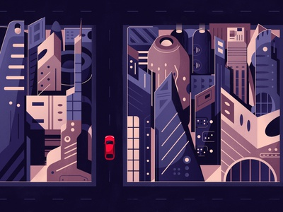 Way of the Force | Renault sci-fi city starwars star wars renault game art online game futuristic tech future flat art design cartoon vector illustration