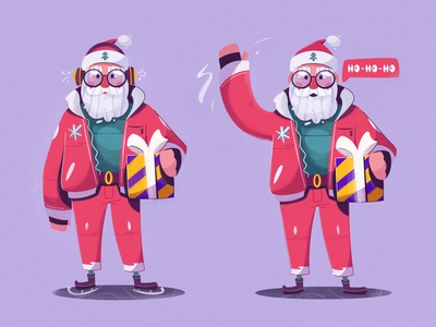 Happy Holidays! gift christmas xmas merry xmas happy new year happy holidays santa claus santa flat art funny design character cartoon vector illustration