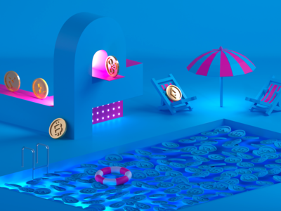 Cryptocoin pool party