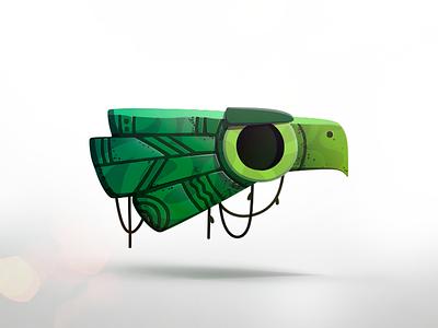 SKLV2D | Character eagle ipad game concept character casual art 2d